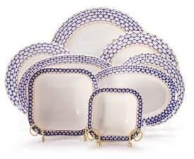 Imperial Porcelain 24-Piece Porcelain Dinner Set