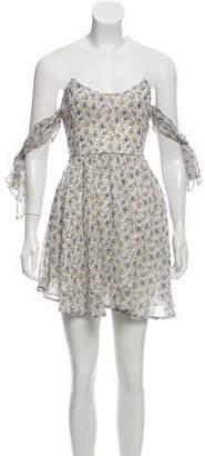 For Love & Lemons Floral Off-The-Shoulder Mini Dress