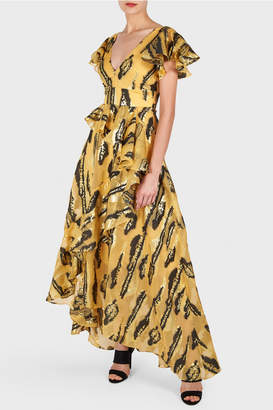 Temperley London Audrey Animal Print Long Dress