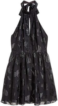 H&M Chiffon Halterneck Dress - Black