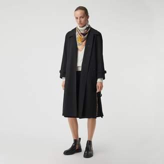 Burberry Side-slit Tropical Gabardine Trench Coat , Size: 06, Black