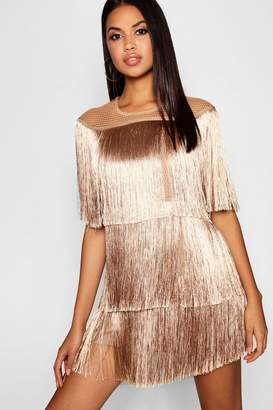 boohoo Tassel Detail Mini Dress