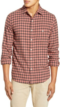 The Normal Brand Stephen Regular Fit Gingham Flannel Button-Up Shirt