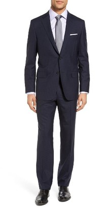 Men's Hickey Freeman Beacon Classic Fit Check Wool Suit $1,695 thestylecure.com