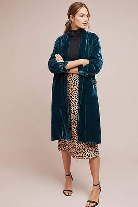 Cupcakes And Cashmere Velvet Trench Coat