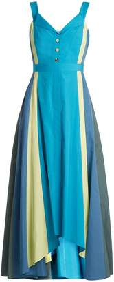 Peter Pilotto Panelled cotton-poplin midi dress