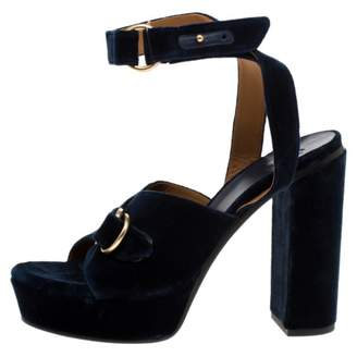 Chloé Black Velvet Sandals
