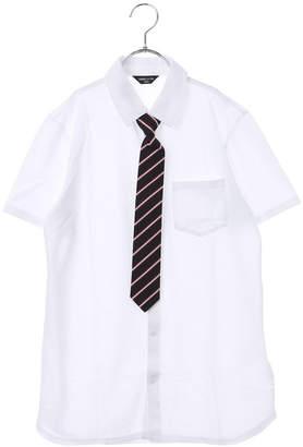 Comme Ca Ism (コムサイズム) - コムサイズム COMME CA ISM レジメンネクタイ付き半袖シャツ