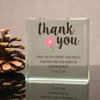 GiftsOnline4U Personalised Glass Block Thank You Gift
