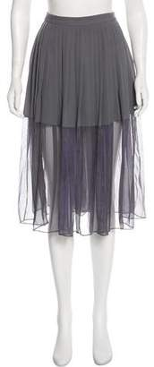 By Malene Birger Pleated Midi Skirt