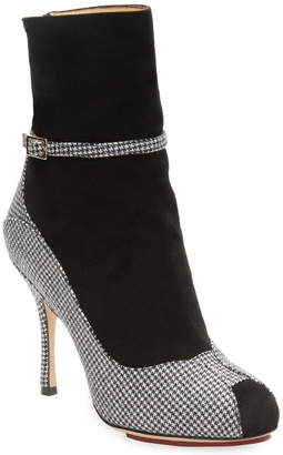 Charlotte Olympia Incognito Checkered Boots