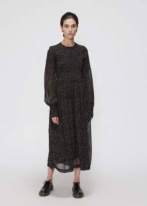 Ganni Long Sleeve Mini Floral Print Dress
