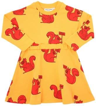 Mini Rodini Squirrel Organic Cotton Gabardine Dress