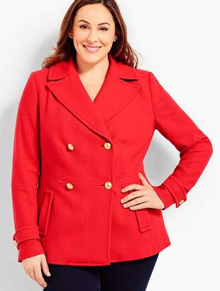 Talbots Plus Size Exclusive Double-Breasted Peacoat