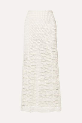 Theory Crocheted Cotton-blend Maxi Skirt - Ivory
