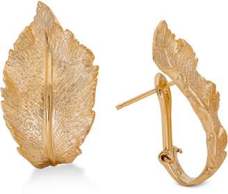 Giani Bernini Leaf Hoop Earrings in 18k Gold-Plated Sterling Silver