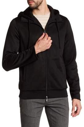 Vince Front Zip Solid Hoodie