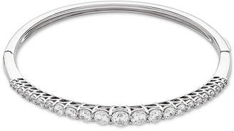 Macy's Cubic Zirconia Graduated Bangle Bracelet in Sterling Silver