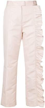 MSGM Dallas ruffled detail trousers