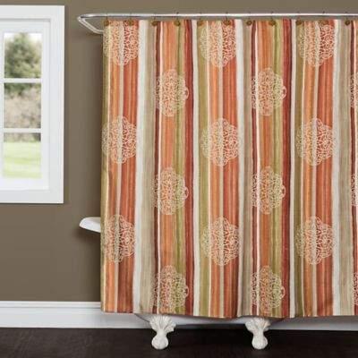 Mehndi Stripe Shower Curtain