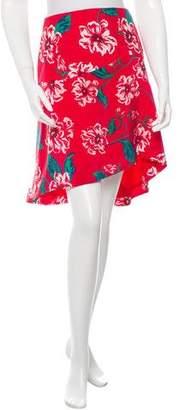 Nicholas Floral Silk Skirt