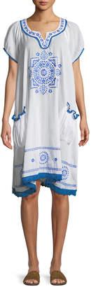 Nordic Pure Safari Embroidered Relaxed Midi Dress