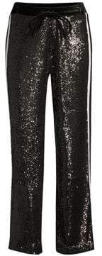 The Kooples Wide Leg Sequin Track Pants