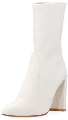 Stuart Weitzman Clinger Stretch Ankle Boot $598 thestylecure.com