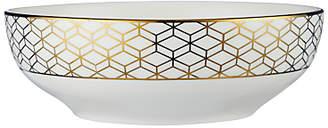John Lewis & Partners Geometric Decorated Serving Bowl, Gold, 23cm