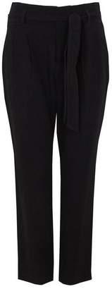 Wallis Petite Black Tie Belted Trouser