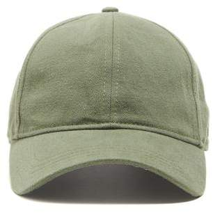 47165263307 Todd Snyder + New Era Dad Hat In Olive Selvedge Chino