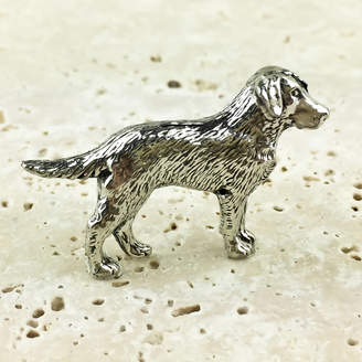 Wild Life Designs Labrador Dog Tie Pin Antiqued Pewter