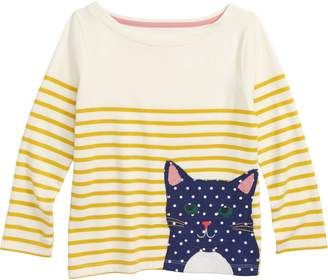 Boden Mini Applique Breton Shirt