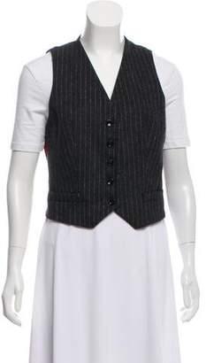 Dolce & Gabbana Pinstripe V-Neck Vest