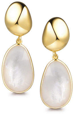 Mother of Pearl PIARA Goldplated Sterling Silver and Mother-of-Pearl Drop Earrings