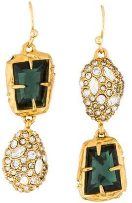 Alexis Bittar Mismatched Crystal Drop Earrings