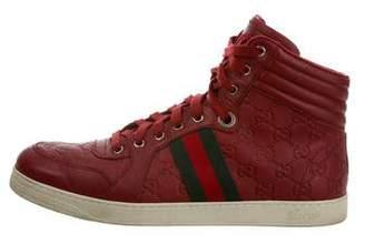 a2adb56b02a Gucci Web Trim Guccissima Sneakers