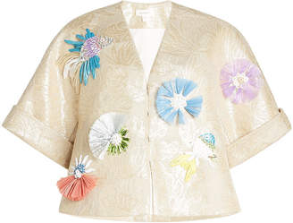 DELPOZO Embellished Jacket with Linen