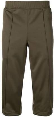 Comme des Garcons khaki striped shorts