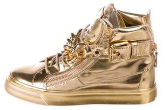 Giuseppe Zanotti Leather London High-Top Sneakers