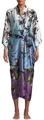 Christine Lingerie Kaleidoscope Silk Long Robe