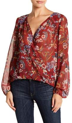 Willow & Clay Floral Wrap Top