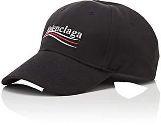 Balenciaga Men s Cotton Twill Baseball Cap - Black 2b6e4132ea1