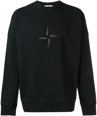 Stone Island logo embroidered sweater