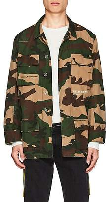 Off-White Men's Camouflage Cotton Field Jacket