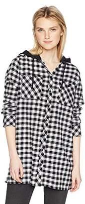 Volcom Junior's Ruffing It Long Sleeve Fleece Tunic