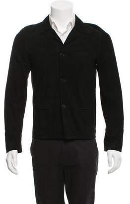 Saint Laurent Suede Silk-Lined Jacket