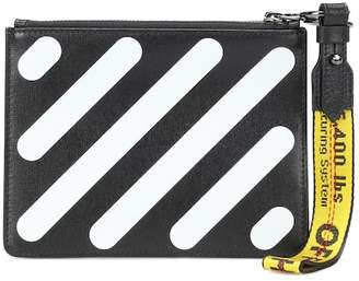 Off-White Diag Double leather clutch