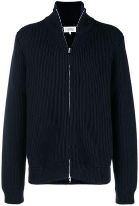 Maison Margiela zip-up ribbed cardigan