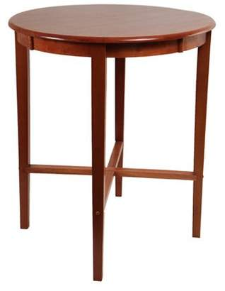 Boraam Round Pub Table, Espresso/Cherry